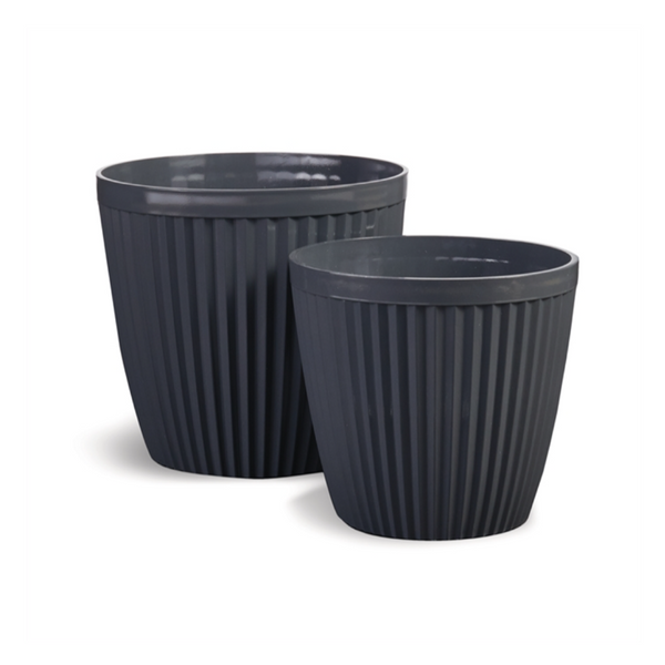 Glazelite Ribbed Round Pots-Napa Home and Garden-Home Smith