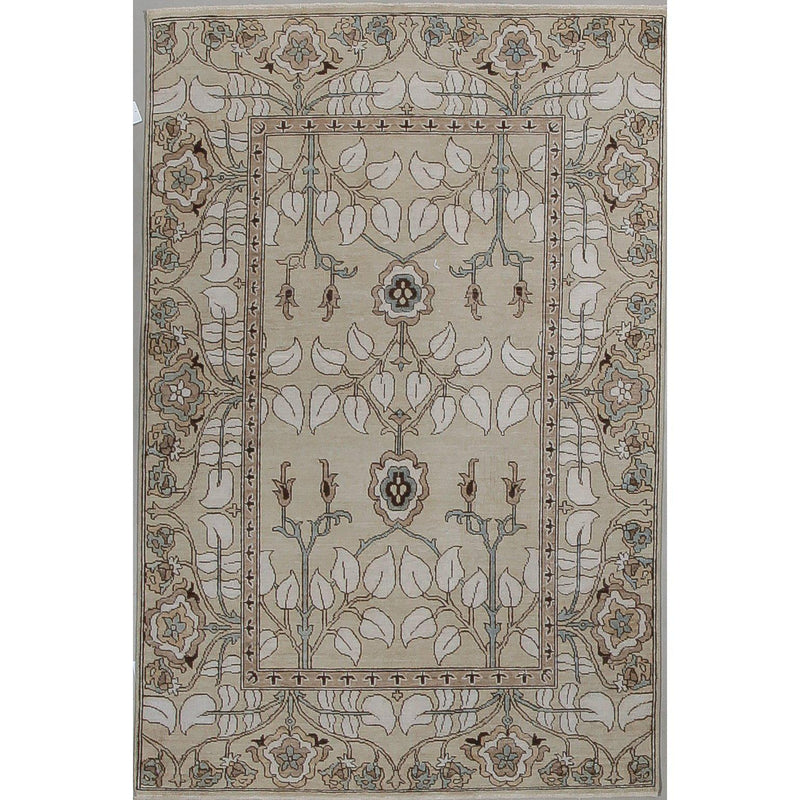 "Hand Knotted Bamyan Wool Rug 5'11"" x 4'00"" - Home Smith"