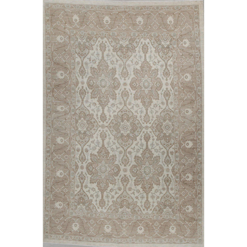 "Hand Knotted Bamyan Wool Rug 9'03"" x 6'03""-Caravan Rugs-Home Smith"