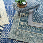 Healy Blue Woven Wool Rug - Home Smith