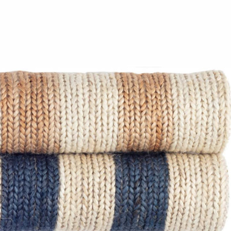Ipswich Blue Woven Jute Rug - Home Smith