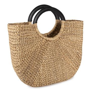 Large Woven Demilune Basket Tote-Sir/Madam-Home Smith
