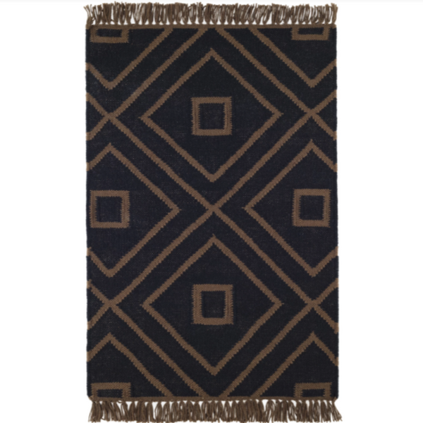 Mali Black Indoor/Outdoor Rug - Home Smith