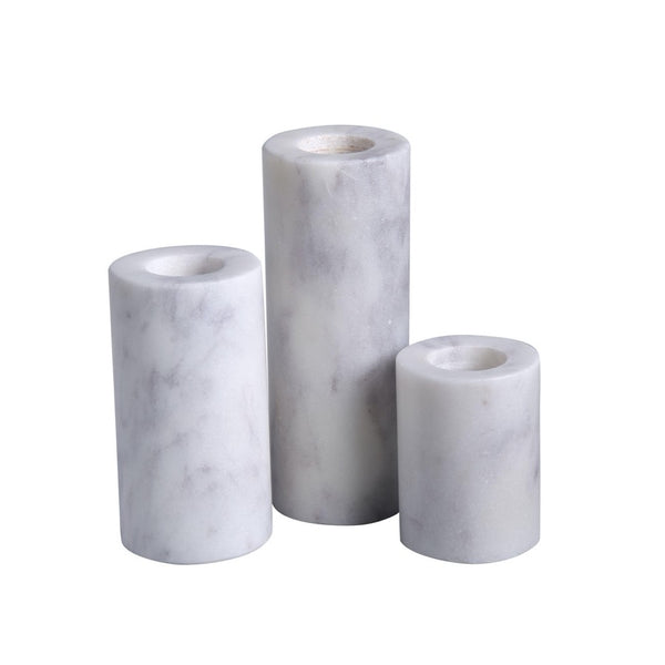 Marble Taper Holders - Set of 3-BIDK Home-Home Smith