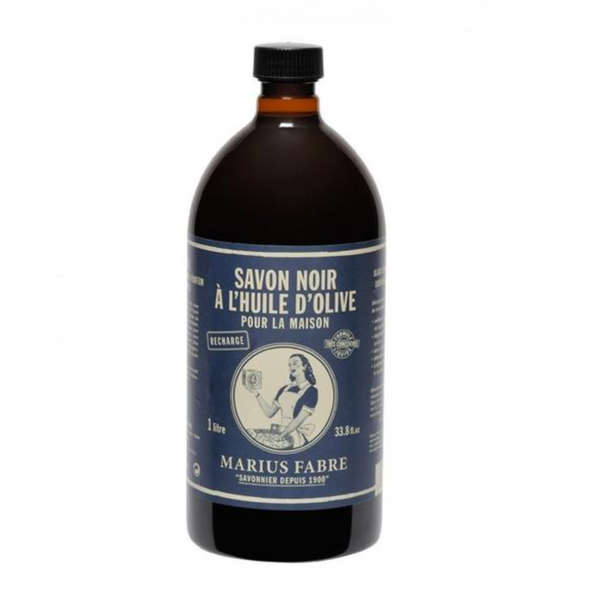 Marseilles Olive Oil Black Soap 1 Litre Refill-Kiss That Frog-Home Smith
