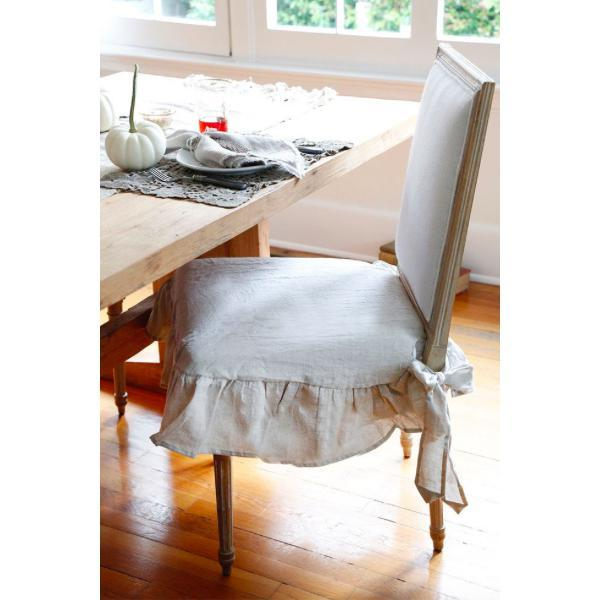 Organic Linen Ruffle Seat Covers - Home Smith