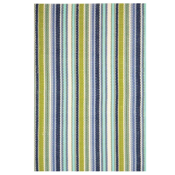 Pond Stripe Indoor/Outdoor Rug-Dash & Albert-Home Smith