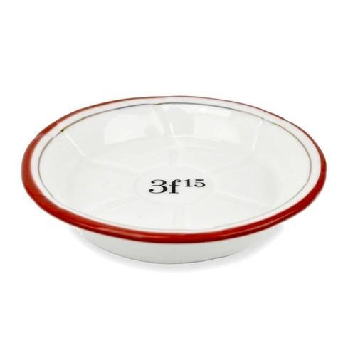 Porcelain Absinthe Coaster/Saucer - 3f 15, Red/Gold - Home Smith