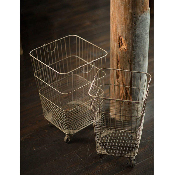 Rolling Laundry Basket-Vagabond Vintage-Home Smith