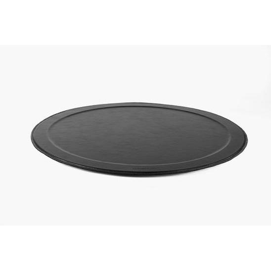 Round Leather Serving Tray - Extra Large-DutchDeluxes-Home Smith