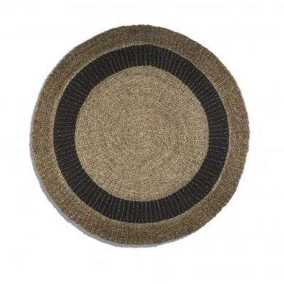 Round Seagrass Mat, Gray & Natural Edge - Home Smith
