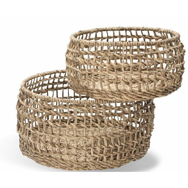 Round Ship Knot Table Baskets-Montes Doggett-Home Smith