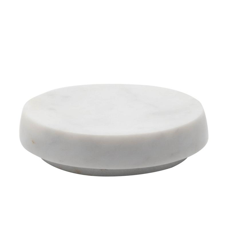 Round White Marble Soap Dish - Home Smith