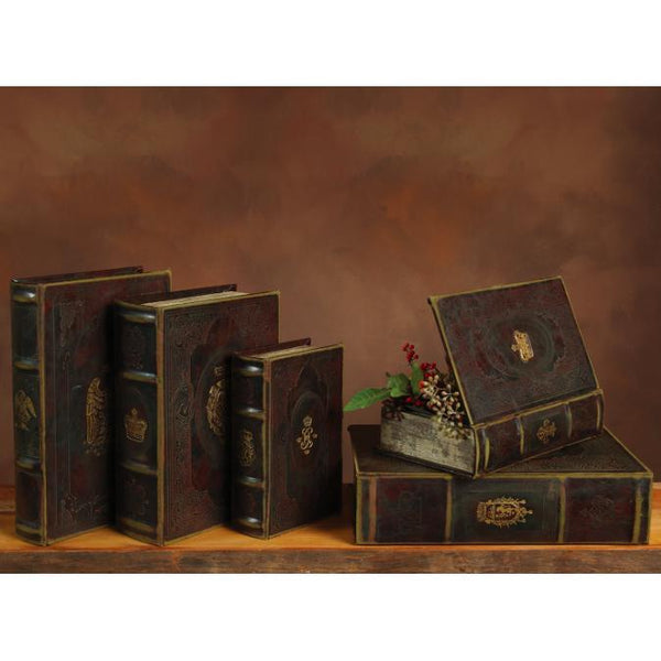 Royal Embossed Brown Book Box-HomArt-Home Smith