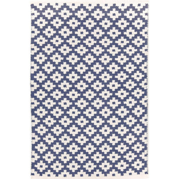Samode Denim/Ivory Indoor/Outdoor Rug-Dash & Albert-Home Smith