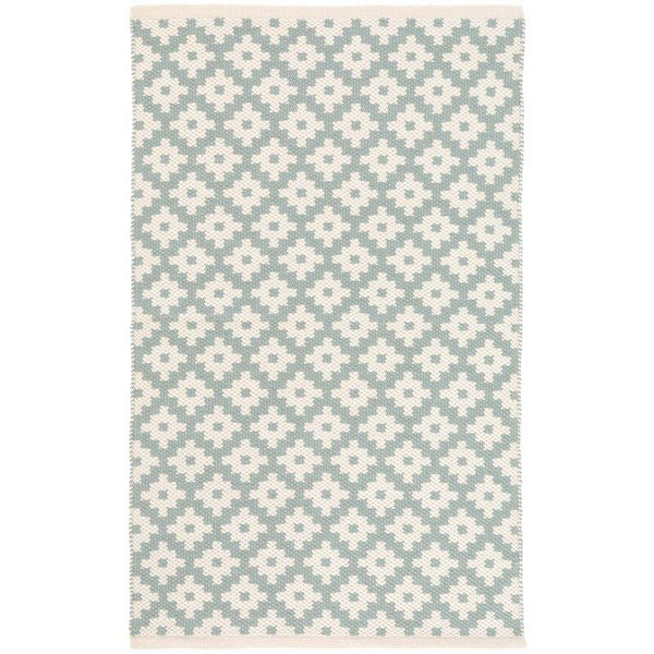 Samode Light Blue/Ivory Indoor/Outdoor Rug-Dash & Albert-Home Smith