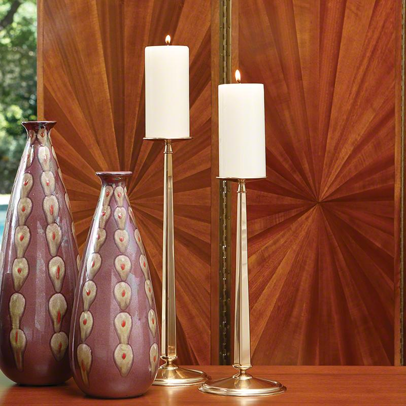 Simple Stem Brass Candle Holders - Home Smith