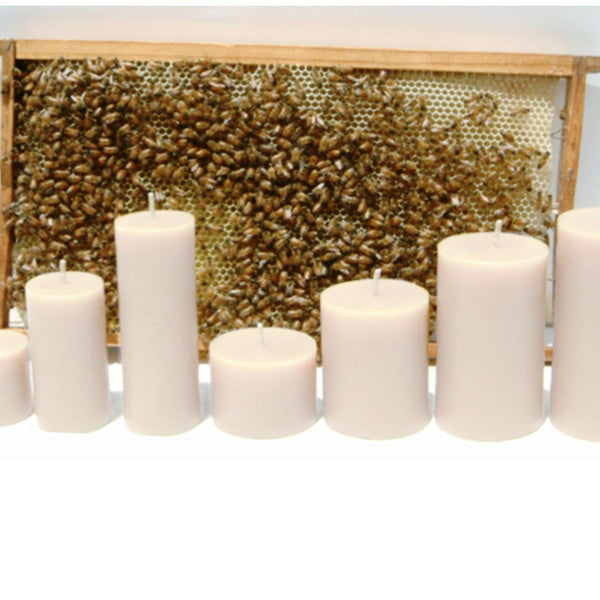 Smooth White Beeswax Pillar Candles-Cheeky Bee-Home Smith