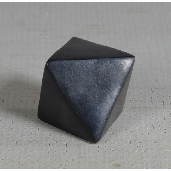 Soapstone Geometric Octahedron Object - Home Smith