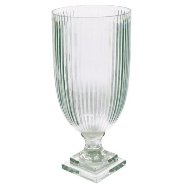 Stripe Cut Glass Vase - Home Smith