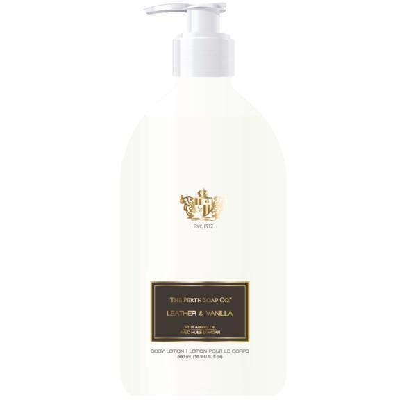 The Perth Soap Co. Leather & Vanilla Body Lotion - Home Smith