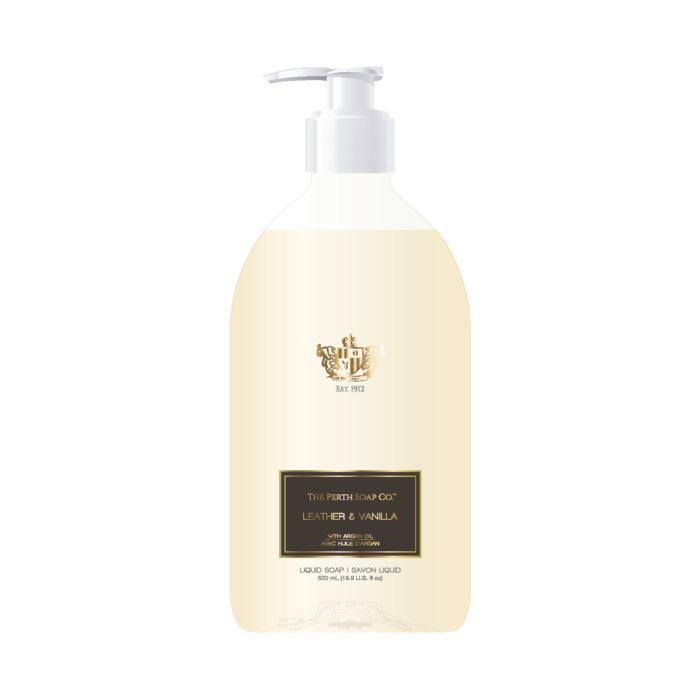 The Perth Soap Co. Leather & Vanilla Liquid Soap-The Perth Soap Co.-Home Smith