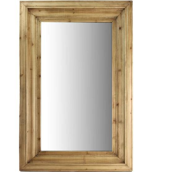 Waxed Pine Mirror - Home Smith