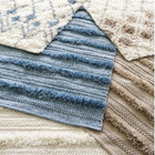 Zhara Stripe Denim Indoor Outdoor Rug - Home Smith