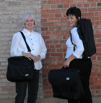 Examples of women carrying Altieri Instrument bags for woodwinds