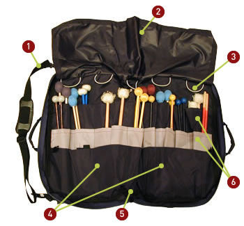 Drumstick, Mallet & Percussion Accessory Bag, Deluxe #57A