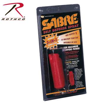 Sabre 3-In-1 Pepper Spray With Plastic Case