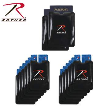 RFID Blocking Credit Card and Passport Sleeve 12 Pack