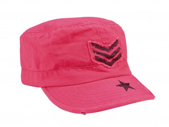 Women's Vintage Style Stripes & Stars Adjustable Fatigues Cap