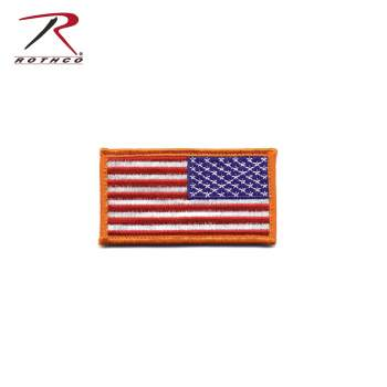 Mini US Flag Patch With Hook Back