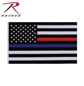 Thin Blue and Thin Red Line Flag