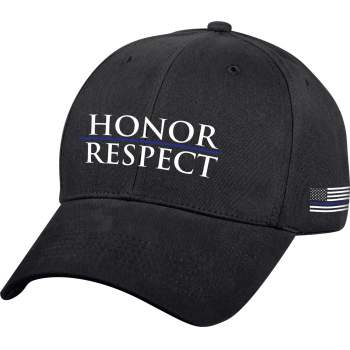 Honor and Respect Thin Blue Line Low Profile Cap - Black