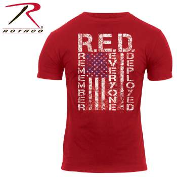 Athletic Fit R.E.D. (Remember Everyone Deployed) T-Shirt