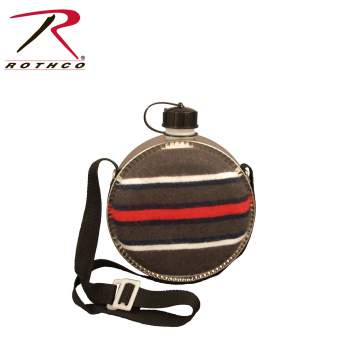 2 Quart Striped Desert Canteen