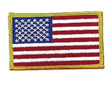 Iron On / Sew On Embroidered US Flag Patch