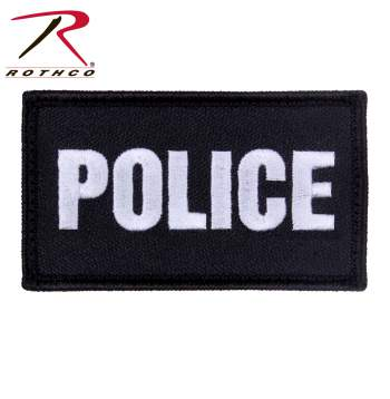 Police Patch with Hook Back - Black/Silver