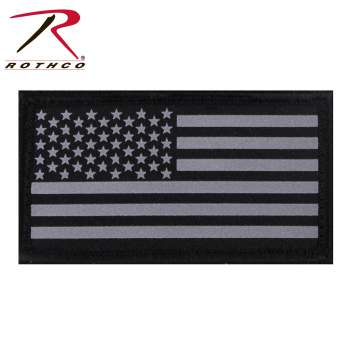 Reflective Flag Patch With Hook Back