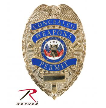 "Deluxe ""Concealed Weapons Permit"" Badge"