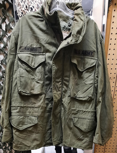 Authentic Vintage US Army Medium Short M65 Field Coat With No Liner