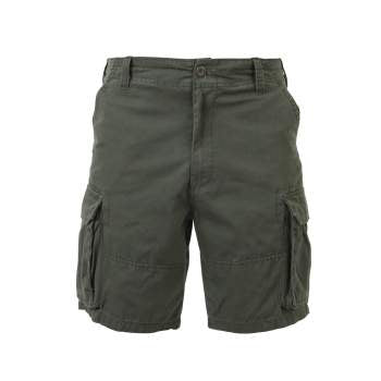 Vintage Style Solid Paratrooper Cargo Shorts