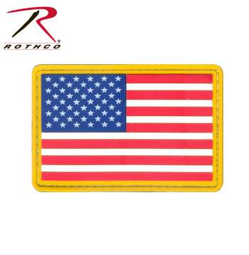 PVC US Flag Patch - Hook Back
