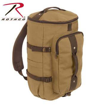 Convertible Canvas Duffle / Backpack - 19 Inches