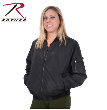 Womens Lightweight MA-1 Flight Jacket