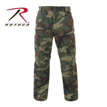 Vintage Style Camo Paratrooper Fatigue Pants