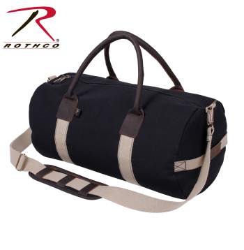 Canvas & Leather Gym Duffle Bag
