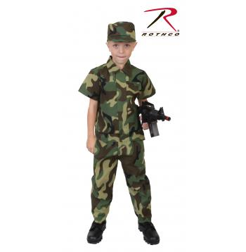 Kids Camouflage Soldier Costume